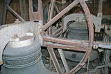 Close up of the bells at Bishop's Cleeve