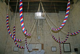 Ropes hung up when not ringing at Bishop's Cleeve